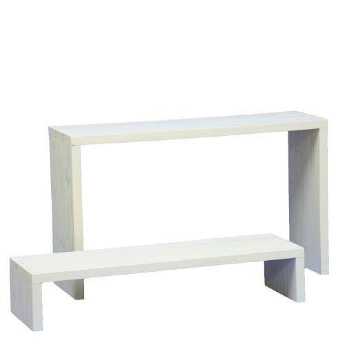 Welcome wood ウッドステージ WSW902LH-GC ワイド2段タイプ  色はガーデンクリーム(GC) (フラワースタンド  フラワーラック プランタースタンド 飾り台)
