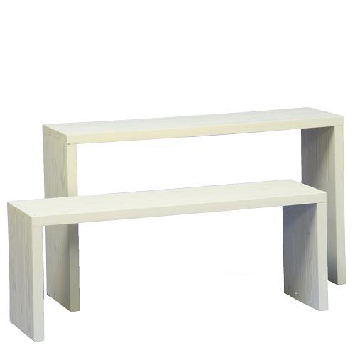 Welcome wood ウッドステージWSW902MH-GC ワイド2段タイプ  色はガーデンクリーム(GC)(フラワースタンド  フラワーラック プランタースタンド 飾り台)