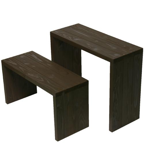 Welcome wood ウッドステージWSW662MH-UB ワイド2段タイプ  色はアンバーブラウン(UB) (フラワースタンド  フラワーラック プランタースタンド 飾り台)