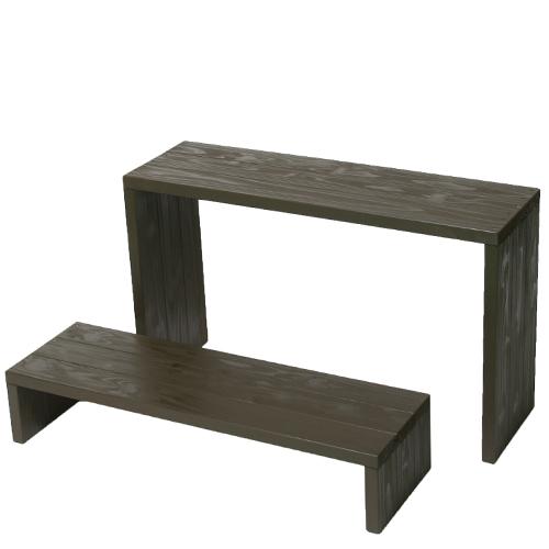 Welcome wood ウッドステージ WSW902LH-UB ワイド2段タイプ  色はアンバーブラウン(UB) (フラワースタンド  フラワーラック プランタースタンド 飾り台)