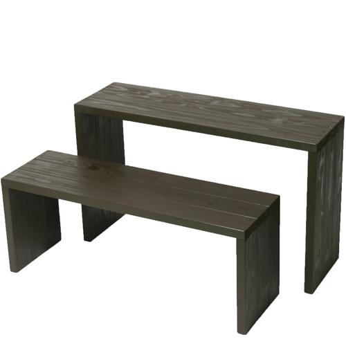 Welcome wood ウッドステージWSW902MH-UB ワイド2段タイプ  色はアンバーブラウン(UB) (フラワースタンド  フラワーラック プランタースタンド 飾り台)