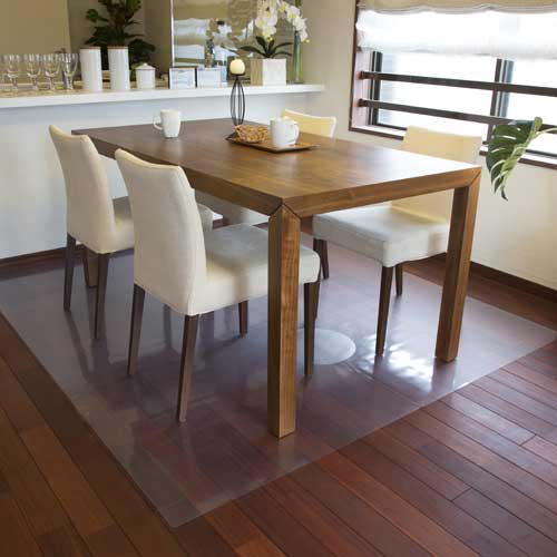 Great Achilles Transparent Dining Table Under The Mat (floor Protection Mat) 90 X  150 Cm