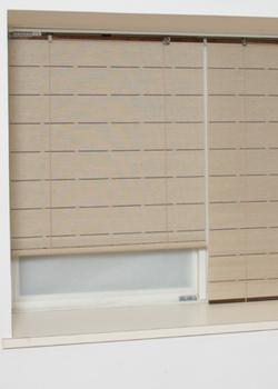 ロールスクリーン スマート 麻 ロールアップシェード 天然素材 幅176×180cm 巻上げ 日よけ 間仕切り【送料無料】