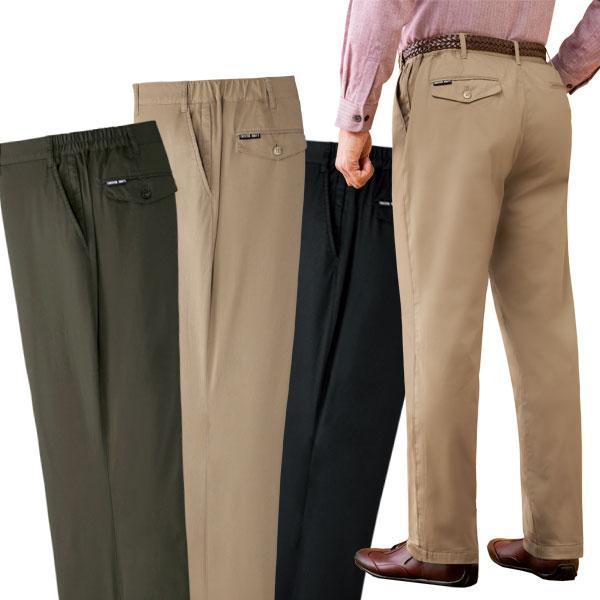 裏フリースパンツ 安心ポケット付 同サイズ3色組 暖かストレッチズボン 選べる股下 秋冬 40代 50代 60代 957600