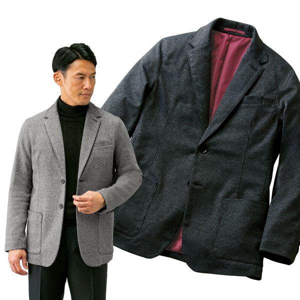快適ストレッチジャケット 暖かウール入 ジャージ素材使用 秋冬春 40代 50代 60代 957607