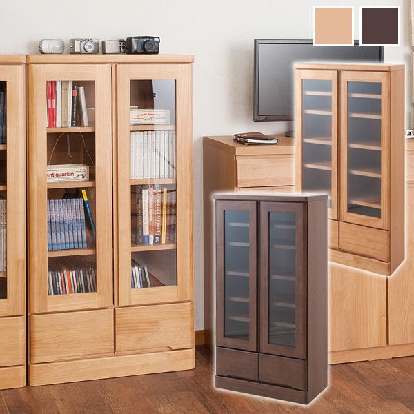 天然木書棚 幅60cm ロータイプ 本棚/書棚/食器棚/カップボード/完成品/TE-0036/TE-0040