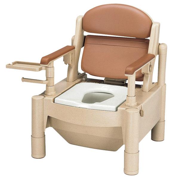【安寿アロン化成】ポータブルトイレ KX-SDR / 533-172 標準タイプ【定番在庫】即日・翌日配送可【介護用品】樹脂製ポータブルトイレ【通販】