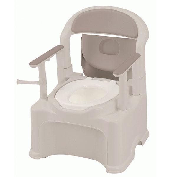 【リッチェル】ポータブルトイレ きらく P2シリーズ PS2型(普通便座タイプ) / 47530【定番在庫】即日・翌日配送可【介護用品】樹脂製ポータブルトイレ【通販】
