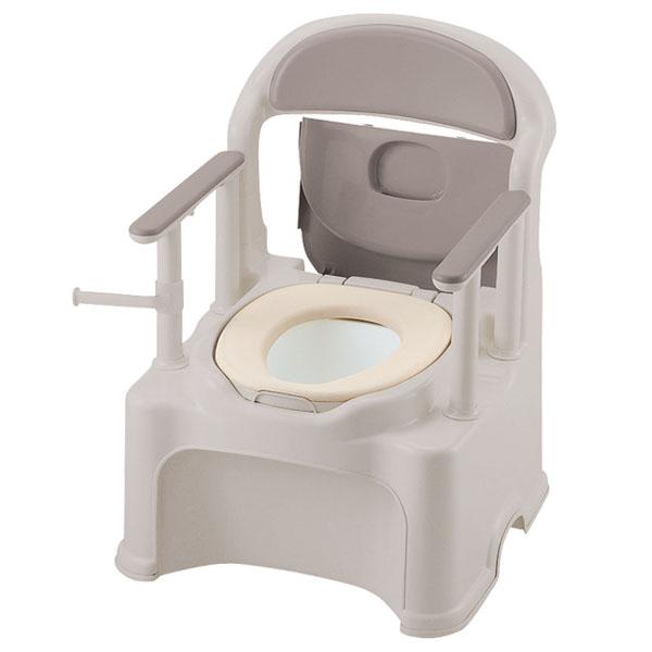 【リッチェル】ポータブルトイレ きらく P2シリーズ PY2型(やわらか便座タイプ) / 47540【定番在庫】即日・翌日配送可【介護用品】樹脂製ポータブルトイレ【通販】