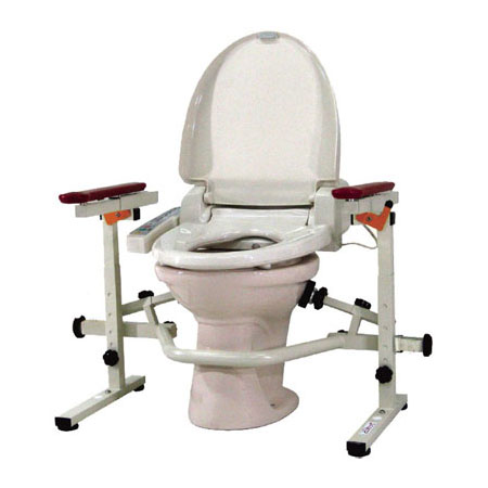 【ウェルファン】洋式トイレ手すり といれって 肘掛スライド式(ステンレス製) / TS-SW(L100)【定番在庫】即日・翌日配送可【介護用品】転倒予防/立ち座りが難しい/つかまる/据え置き型【通販】
