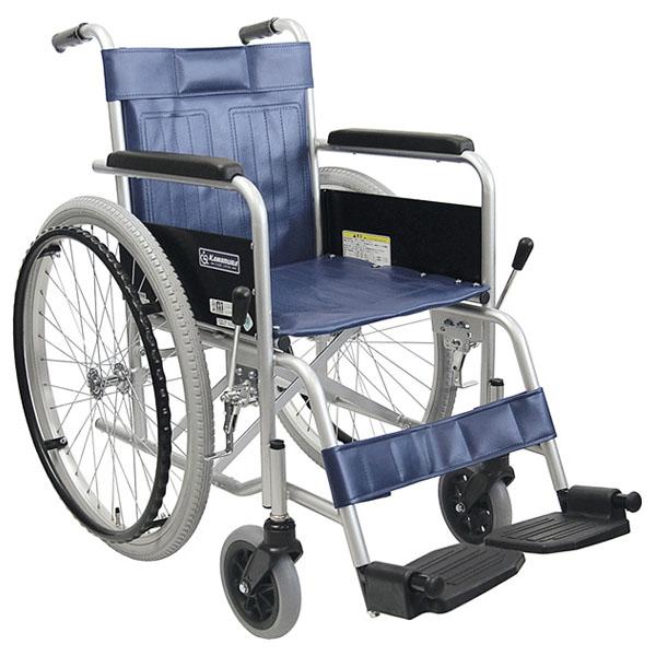 【カワムラサイクル】病院・施設で定番のスチール製標準車いす KR801N(エアタイヤ仕様) =非課税=【メーカー直送】返品交換代引不可【介護用品】車椅子/イス【通販】
