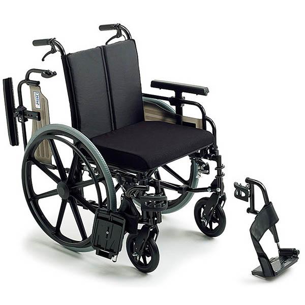 【ミキ】ビッグサイズ車いす KJP-4(自走型・介助用ブレーキ付き) =非課税=【メーカー直送】返品交換代引不可【介護用品】「耐荷重130kg」のビッグサイズ車椅子【通販】