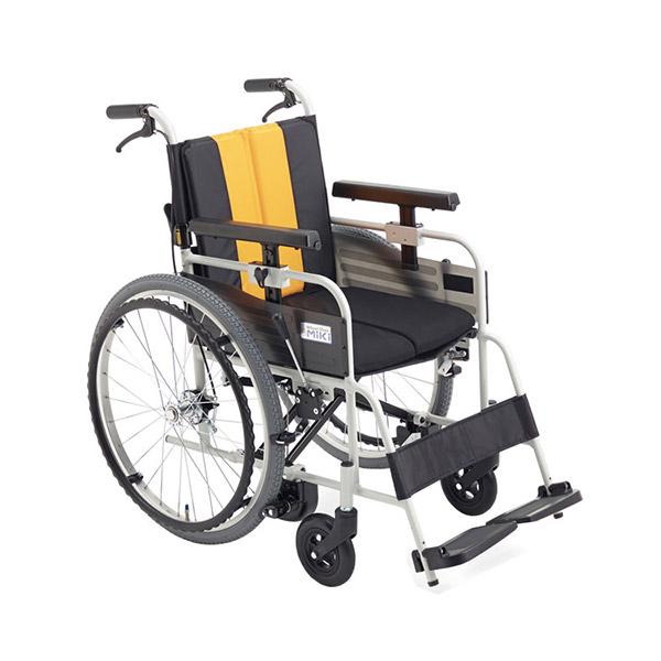 【ミキ】アルミ自走車いす とまっティシリーズ 座幅40cm (イエロー・エメラルド・パープル) / MBY-47B =非課税=【メーカー直送】※返品・交換不可※代引不可※【介護用品】車椅子【通販】