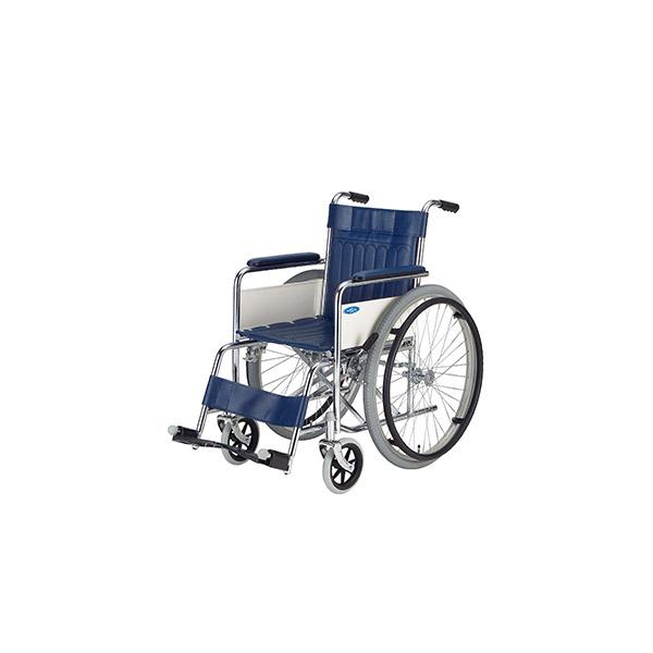 【日進医療器】スチール製標準型車いす 自走用 / ND-1 =非課税=【メーカー直送】※返品・交換不可※代引不可※【介護用品】車椅子【通販】