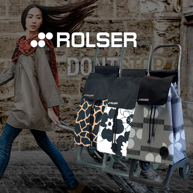 【ROLSER:ロルサー】スペイン ROLSER社製のおしゃれなショッピングカート ボニータ【定番在庫】即日・翌日配送可【介護用品】シルバーカー/キャリー/歩行補助/カート/歩行器/歩行車/おしゃれ/かわいい/シンプル/コンパクト【通販】