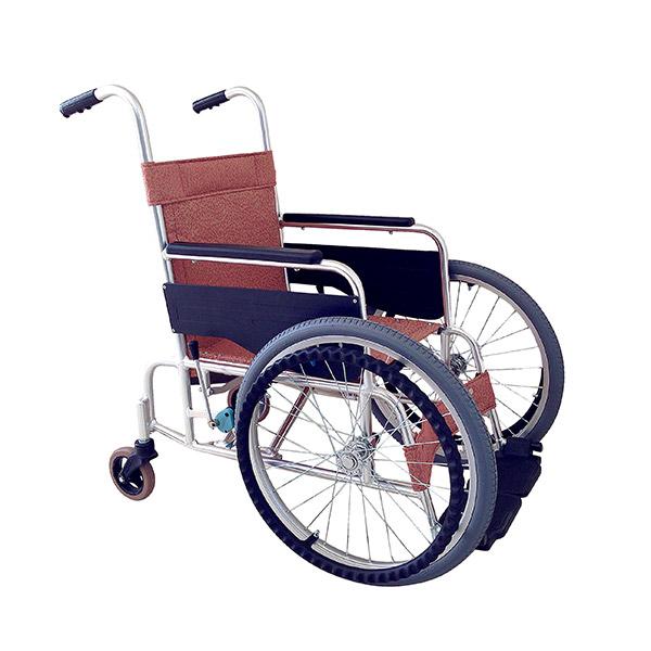 【あかね福祉】アルミ前方大車輪式車いす / FW-20L エリーブラウン =非課税=【メーカー直送】※返品・交換不可※代引不可※【介護用品】車椅子/車いす/イス/高齢者/在宅/施設/シンプル/コンパクト/軽量/扱いやすい【通販】