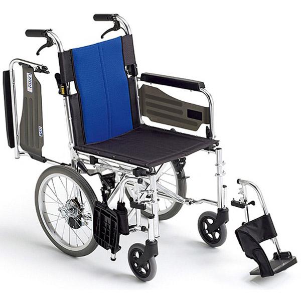【ミキ】アルミ製多機能・介助型車いす BAL-4 / 座幅40cm =非課税=【メーカー直送】※返品・交換不可※代引不可※【介護用品】車椅子/車いす/イス/高齢者/在宅/施設/シンプル/コンパクト/軽量/扱いやすい【通販】