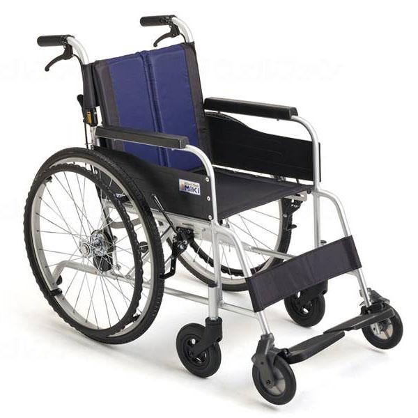 人気の 【ミキ】自走式車いす イージースルー EST-2 ブルー 座幅40cm=非課税=【メーカー直送】※返品・交換※※【介護用品】車椅子/車いす/イス【通販】, ナワチョウ c7475338