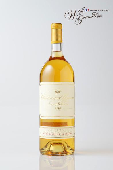 【送料無料】ディケム1998 フランス ソーテルヌ 白ワイン 甘口 デザートワイン 貴腐ワイン マグナムボトル1.5LCh.d'Yquem1998 高級ワイン 贈答品