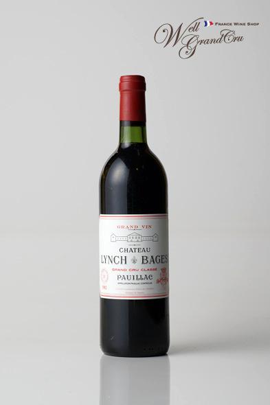 【送料無料】ランシュ バージュ1982 フランス ポイヤック 赤ワイン フルボディ CH.LYNCH BAGES1982【飲み頃】高級ワイン 贈答品