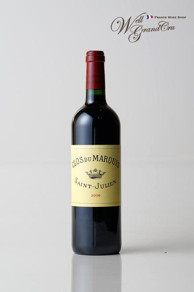 レオヴィル ラス カーズ クロ デュ マルキ2006 フランス サン・ジュリアン 赤ワイン フルボディ CLOS DU MARQUIS2006【飲み頃】高級ワイン贈答品-