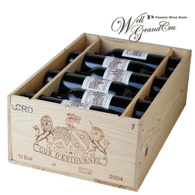 【送料無料】コス デストゥルネル2004木箱付き12本 フランス サン・テステフ 赤ワイン フルボディ CH.COS D'ESTOURNEL2004(@27,400)【飲み頃】高級ワイン 贈答品