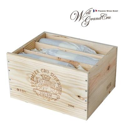 【送料無料】【デザートワイン】ディケム2006木箱付き6本 フランス ソーテルヌ 白ワイン 貴腐ワインCh.d'Yquem2006 パーカーポイント95点+(@90,000)高級ワイン 贈答品