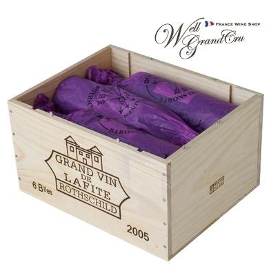 【送料無料】ラフィット ロートシルト2005木箱付き6本 フランス ポイヤック 赤ワイン フルボディCH.LAFITE ROTHSCHILD2005パーカーポイント96+点(@247,000) 高級ワイン 贈答品
