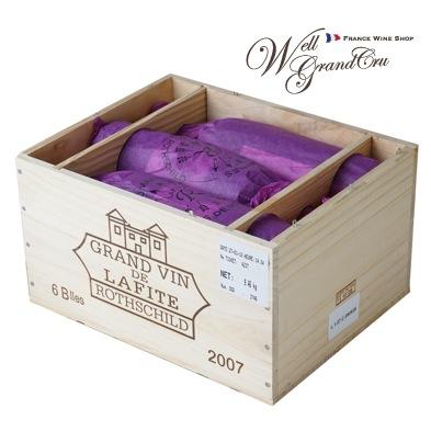 【送料無料】ラフィット ロートシルト2007木箱付き6本 フランス ポイヤック 赤ワイン フルボディCH.LAFITE ROTHSCHILD2007(@141,500 高級ワイン 贈答品