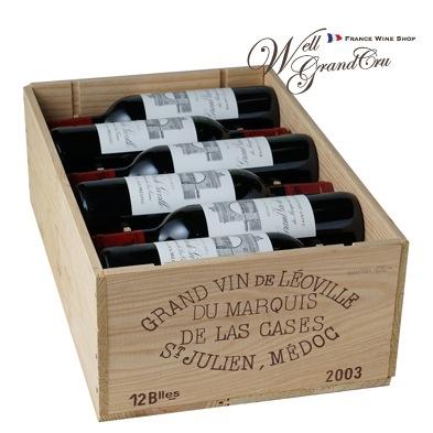 【送料無料】レオヴィル ラス カーズ マルキ ド ラス カズ2003木箱付き12本 フランス サン・ジュリアン 赤ワイン フルボディLEOVILLE DU MARQUIS DE LAS CASES2003パーカーポイント96点(@32,300 高級ワイン 贈答品