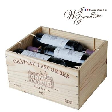 【送料無料】ラスコンブ2005 木箱付き6本 フランス マルゴー 赤ワイン フルボディCH.LASCOMBES2005(@17,000) 高級ワイン 贈答品