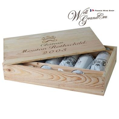 【送料無料】ムートン ロートシルト2003木箱付き6本 フランス ポイヤック 赤ワイン フルボディCH.MOUTON ROTHSCHILD2003(@72,800)高級ワイン 贈答品