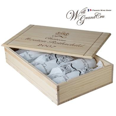 【送料無料】ムートン ロートシルト2007木箱付き6本 フランス ポイヤック 赤ワイン フルボディCH.MOUTON ROTHSCHILD2007(@75,800)高級ワイン 贈答品
