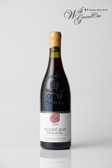 バルブ ラック2006 フランス シャトーヌフ デュ パプ シャプティエ 赤ワイン フルボディBARBE RAC2006 CHAPOUTIER【飲み頃】 高級ワイン 贈答品
