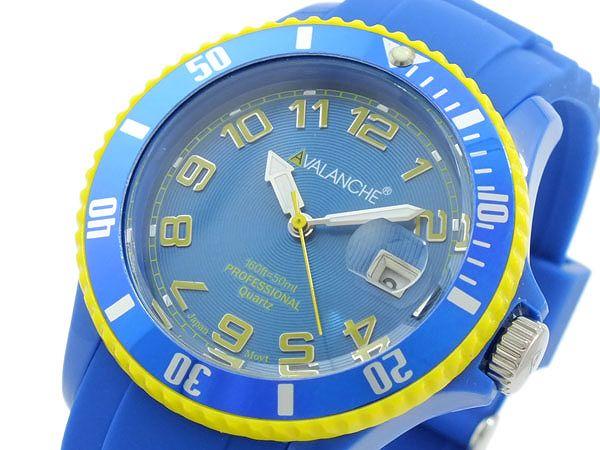 送料無料 AVALANCHE アバランチ 腕時計 レディース Ladies 時計 ブルー イエロー 青 黄色 人気 ブランド アバランチ腕時計 アバランチ時計 AVALANCHE腕時計 AVALANCHE時計 アヴァランチ うでどけい とけい オシャレ お洒落 かわいい カジュアル ランキング 女性 プレゼント
