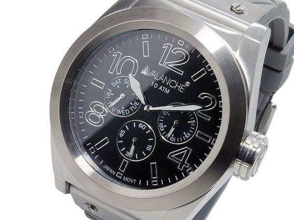 送料無料 AVALANCHE アバランチ 腕時計 メンズ 時計 ブラック グレー AV1027-GYSIL 人気 ブランド アバランチ腕時計 アバランチ時計 AVALANCHE腕時計 AVALANCHE時計 アヴァランチ カジュアル オススメ ランキング 男性 誕生日 プレゼント ギフト
