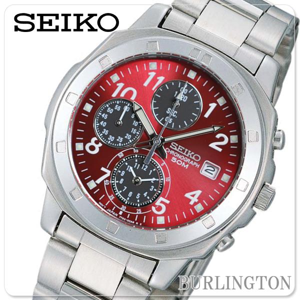 SEIKO セイコー 腕時計 メンズ Men's 時計 海外モデル 国内 1年 保証 SND495PC クロノグラフ クオーツ シルバー レッド 銀 赤 SEIKO腕時計 SEIKO時計 セイコー腕時計 人気 ブランド うでどけい とけい オシャレ オススメ ランキング 就職祝い 男性 プレゼント ギフト