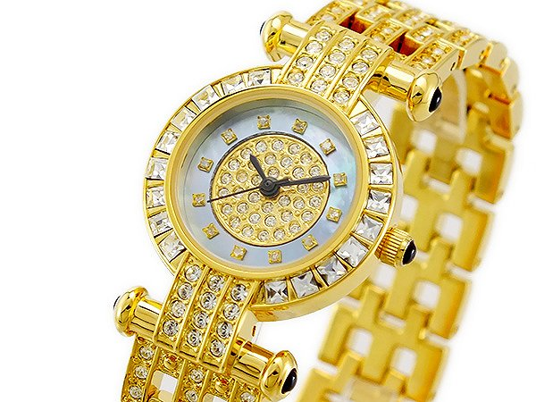 送料無料 ルイラセール LOUIS LASSERRE 腕時計 レディース 時計 天然 ダイヤ LL01GD-D クオーツ ゴールド 人気 きらきら キラキラ