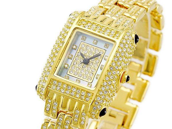 送料無料 ルイラセール LOUIS LASSERRE 腕時計 レディース Ladies 時計 天然 ダイヤ LL04GD-D クオーツ ゴールド 人気 きらきら キラキラ