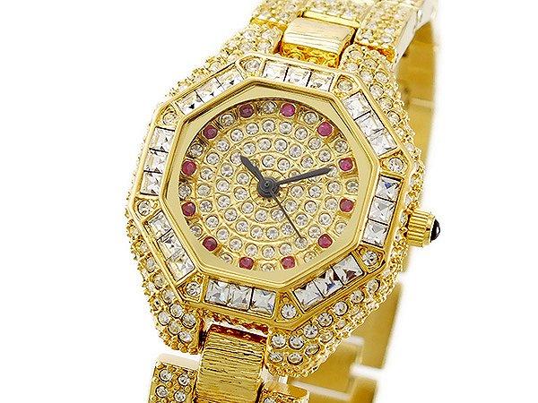 送料無料 ルイラセール LOUIS LASSERRE 腕時計 レディース Ladies 時計 天然 ルビー LL08GD-R クオーツ 人気 ゴールド キラキラ