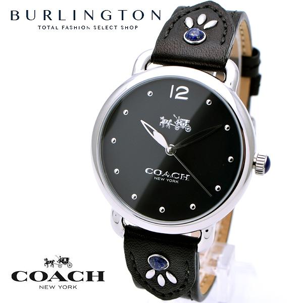 コーチ 腕時計 レディース COACH 14502738 デランシー ブラック 黒 レザーベルト コーチ腕時計 コーチ時計 COACH腕時計 COACH時計 人気 ブランド 時計 おしゃれ かわいい 女性 誕生日 ギフト プレゼント