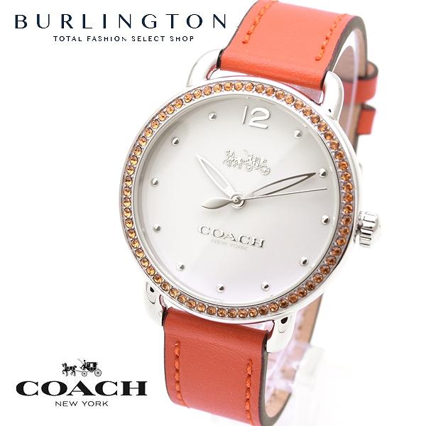 コーチ 腕時計 レディース COACH 14502880 デランシー ホワイト オレンジ コーチ腕時計 コーチ時計 COACH腕時計 COACH時計 人気 ブランド 時計 おしゃれ かわいい 女性 誕生日 ギフト プレゼント
