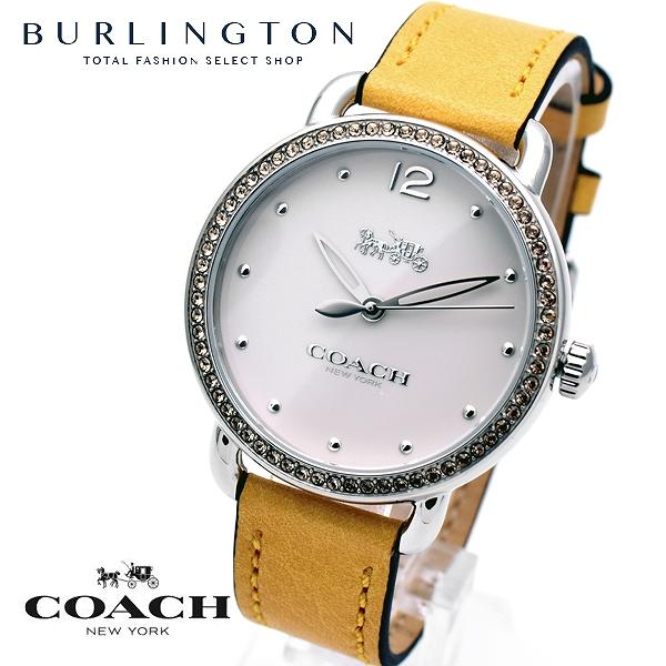 コーチ 腕時計 レディース COACH 14502882 デランシー ホワイト イエロー 黄色 コーチ腕時計 コーチ時計 COACH腕時計 COACH時計 白 黄 人気 ブランド 時計 おしゃれ かわいい 女性 誕生日 ギフト プレゼント