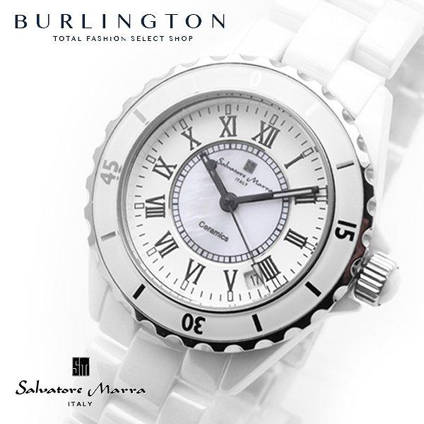 送料無料 サルバトーレマーラ 腕時計 メンズ 時計 ローマ数字 SM15120-WHR ホワイト / シェル (文字盤中央) SALVATORE MARRA セラミックベルト 白 人気 ブランド サルバトーレマーラ腕時計 サルバトーレマーラ時計 父の日 男性 誕生日 ギフト プレゼント
