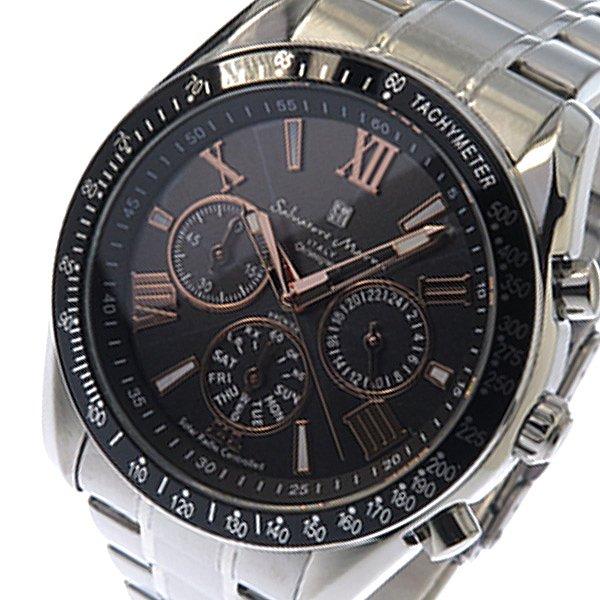 送料無料 サルバトーレマーラ 腕時計 ソーラー メンズ Men's 時計 SM15116-SSBKPG ブラック シルバー クロノ SALVATORE MARRA 人気 ブランド サルバトーレマーラ腕時計 うでどけい とけい 激安 格安 セール 特集 父の日 男性 男性用 ギフト プレゼント ラッピング可