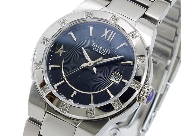 CASIO カシオ 腕時計 シーン SHEEN レディース クオーツ SHE-4500D-1A シルバー ブラック 人気 ブランド カシオ腕時計 CASIO腕時計 CASIOシーン カシオシーン 大人 かわいい 可愛い レディス 女性 女性用 ギフト プレゼント