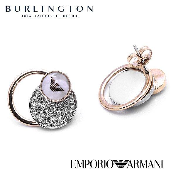 エンポリオアルマーニ ピアス レディース EMPORIO ARMANI EGS2364040 ラインストーン ピンクゴールド シルバー 人気 ブランド 女性 ギフト プレゼント