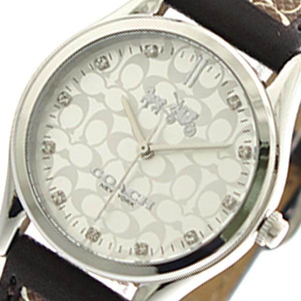 コーチ 腕時計 レディース COACH 14502332 クォーツ シルバー レザー 革 ベルト COACH腕時計 COACH時計 コーチ腕時計 コーチ時計 人気 ブランド 可愛い かわいい おしゃれ おすすめ 女子 妻 母 女性 誕生日 ギフト プレゼント