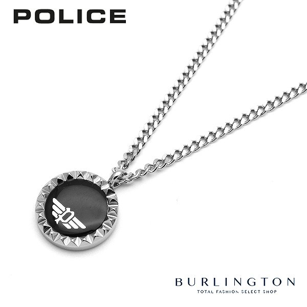 POLICE ポリス ネックレス メンズ オニキス 26515PSS02 ペンダント ブラック シルバー 人気 ブランド 新作 アクセサリー おしゃれ 男性 誕生日 ギフト プレゼント