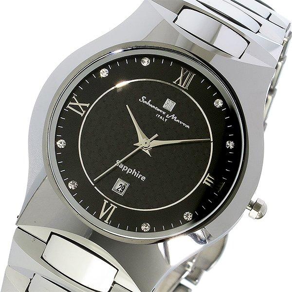 サルバトーレマーラ SALVATORE MARRA クオーツ タングステン メンズ 腕時計 SM17103-SVBK ブラック 人気 ブランド ウォッチ サルバトーレマーラ腕時計 サルバトーレマーラ時計 男性 ギフト プレゼント